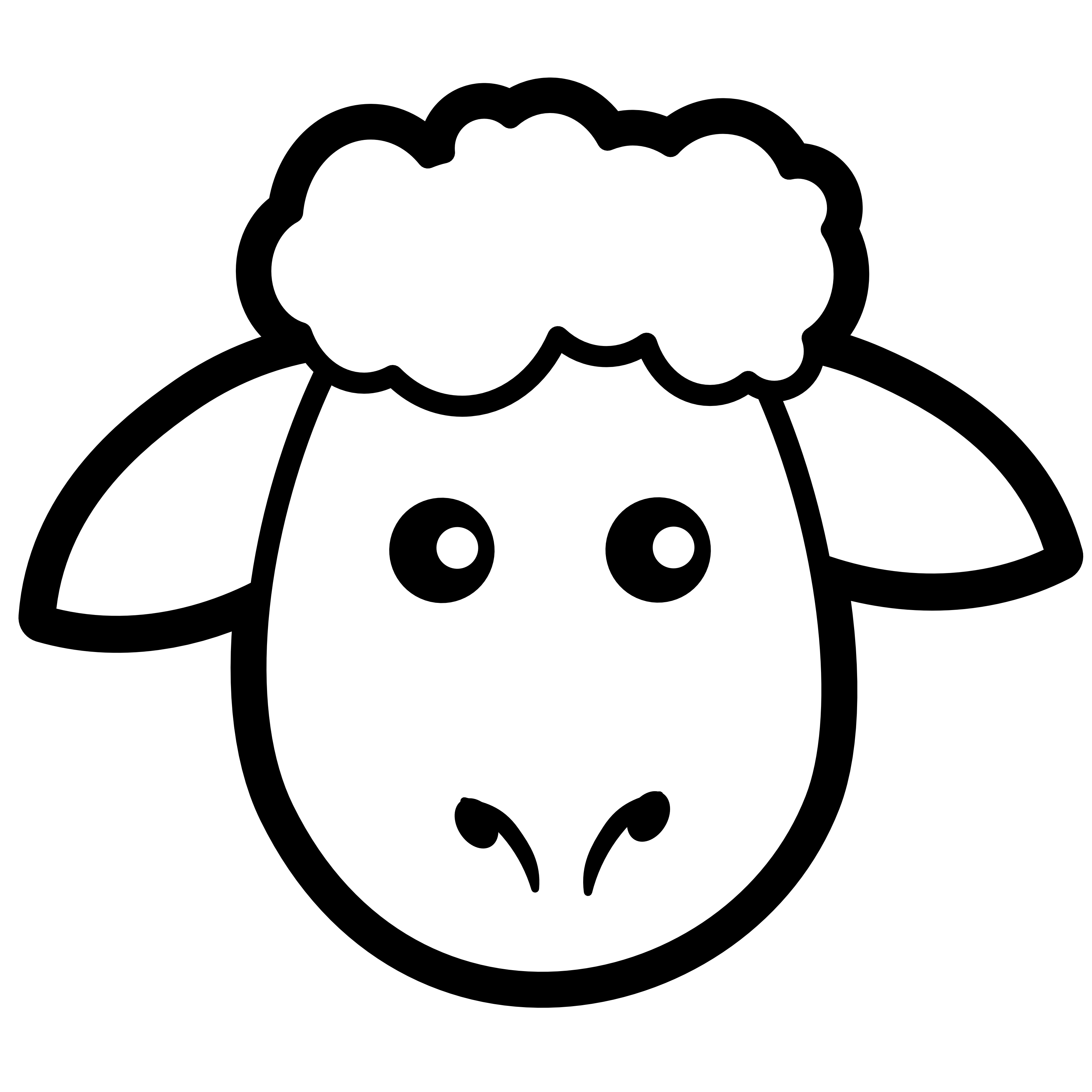 Black face sheep clipart.