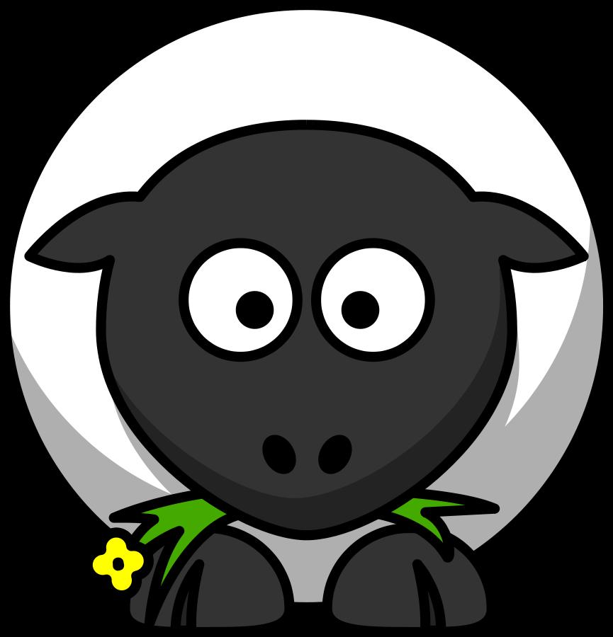 Free clip art sheep face 2.