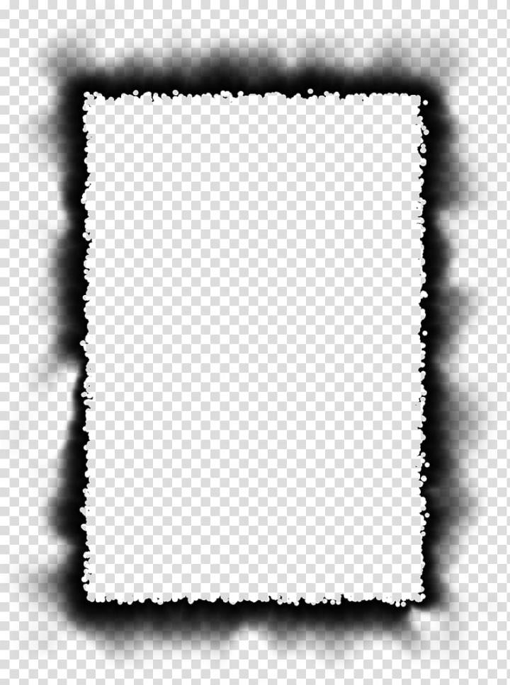 Burned Edges I s, rectangular black fade frame layout.