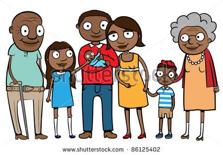 Black Clipart Family.