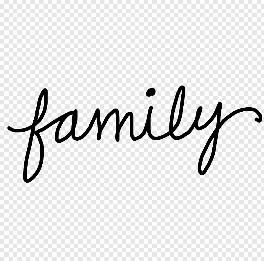 Black family text, Word family, Friends Word s free png.