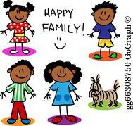 Black Family Clip Art.