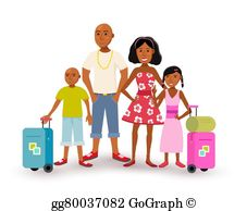 African American Family Clip Art.