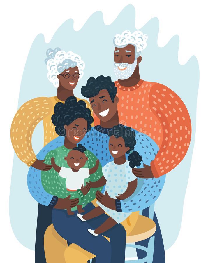 Black Family Stock Illustrations.