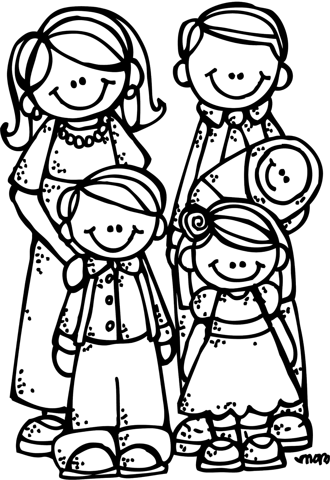 Black family day clipart.