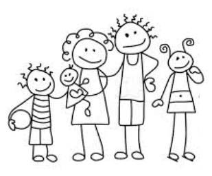 Family black and white family clipart black and white 5.
