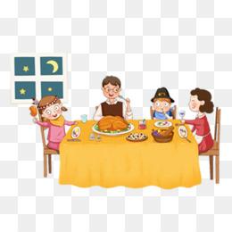 Family Dinner PNG.