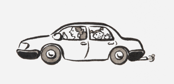 Family Car Clipart Black And White.