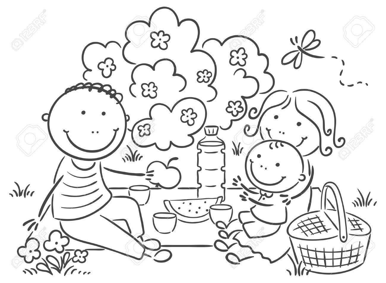 Family picnic clipart black and white 5 » Clipart Portal.