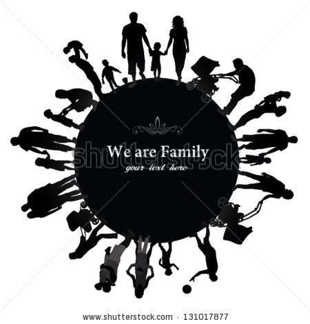 Family Reunion Clipart Black And White.