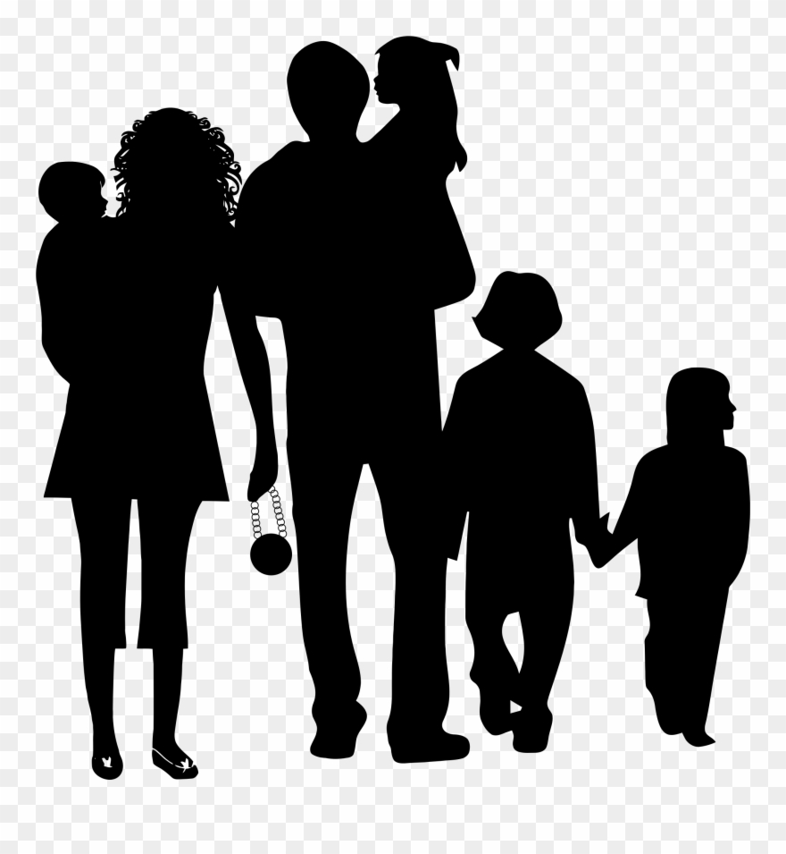 See Here Family Clip Art Black And White.