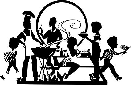 Amazon.com: EvelynDavid Black Family Picnic Barbecue Having.
