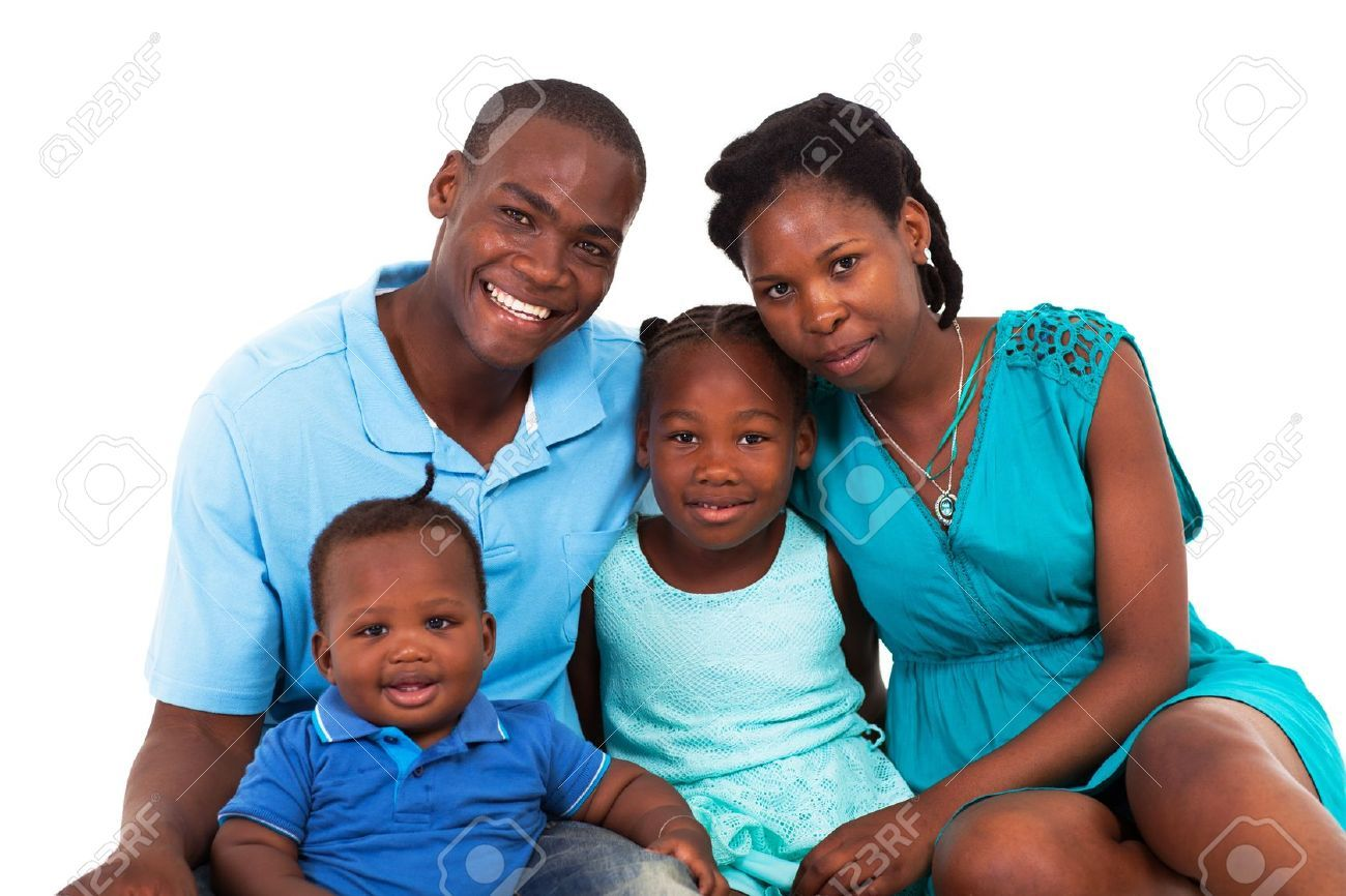 Images For > Black Family Praying Clipart.