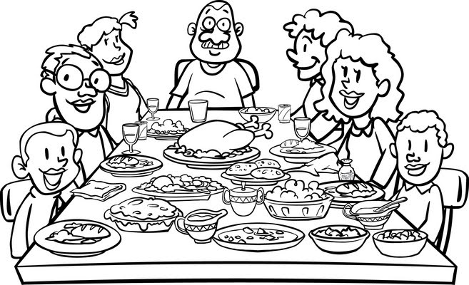 1492 Thanksgiving Dinner free clipart.