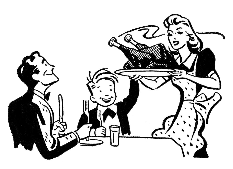 4 Retro Thanksgiving Clipart!.