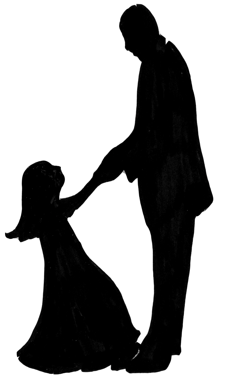 Black Father And Daughter Having Fun Clipart.