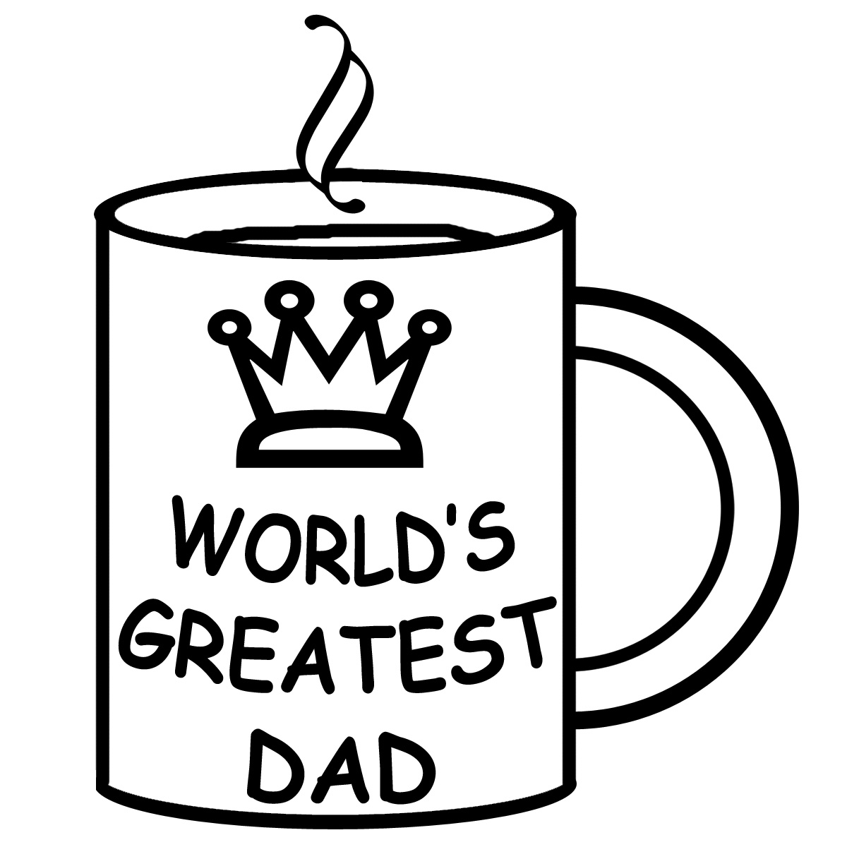 Happy Fathers Day Clipart Black And White.
