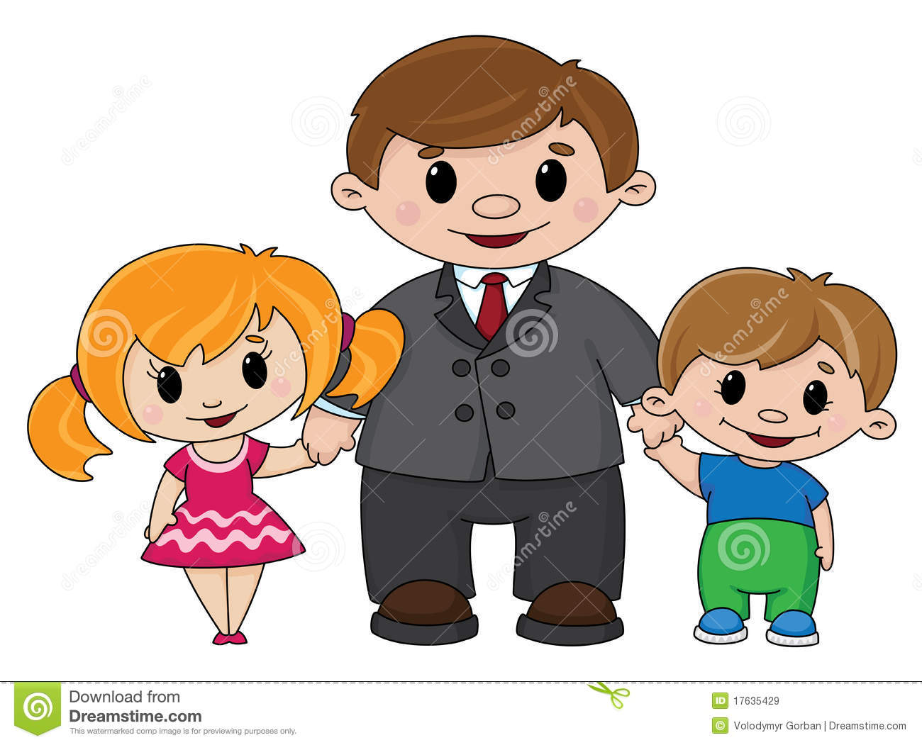 Child And Father Clipart.