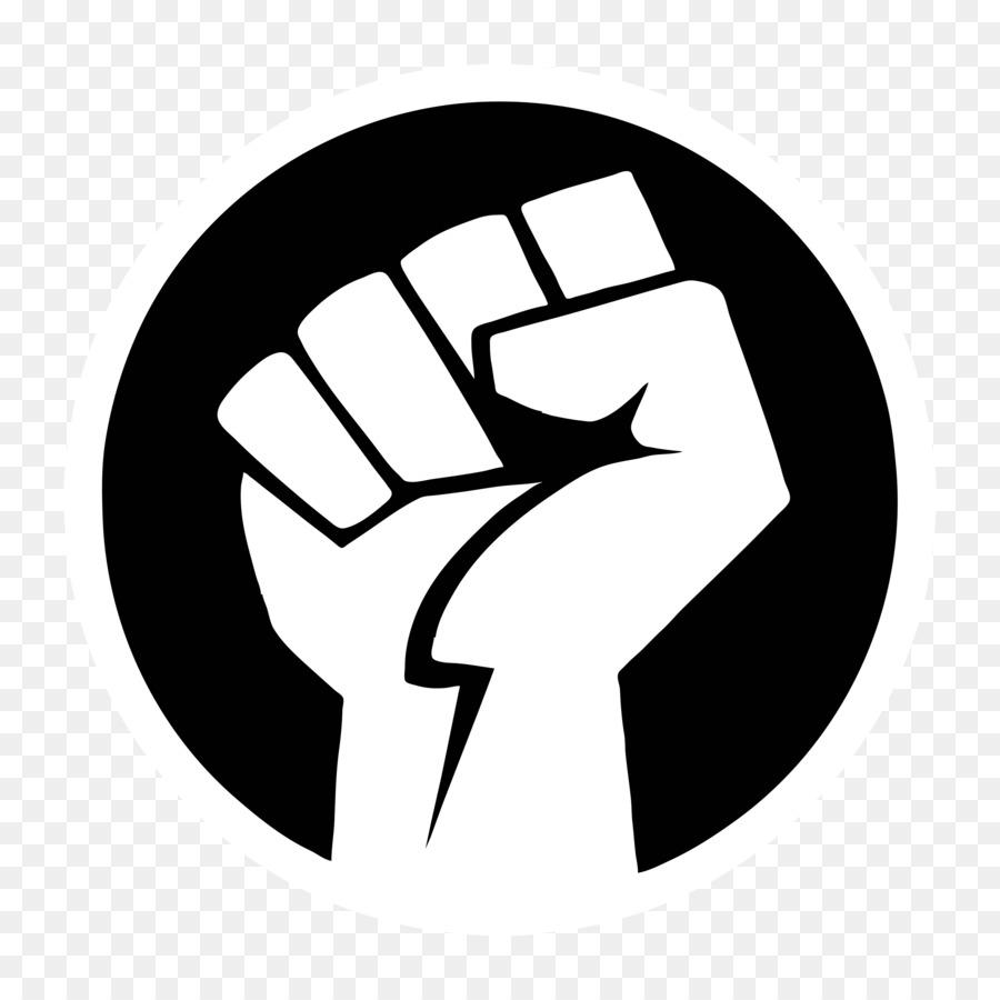 Black Power Fist clipart.