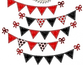 Birthday Flag Banner Clip Art Vintage Pennant. Snowjet.co.