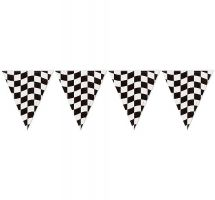 Checkered Flag Banner Clip Art.