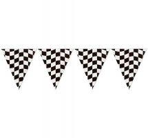 Checkered Flag Banner Clip Art.