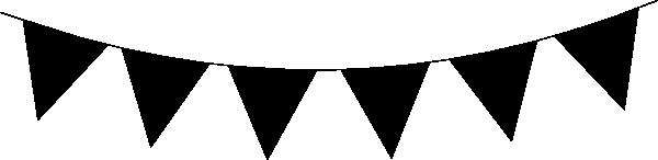 Black Flag Banner Clipart.