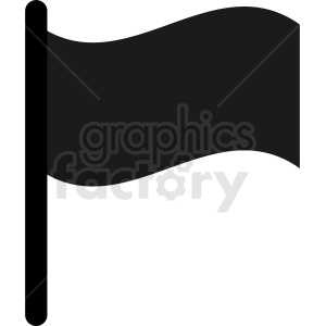 black flag icon clipart. Royalty.