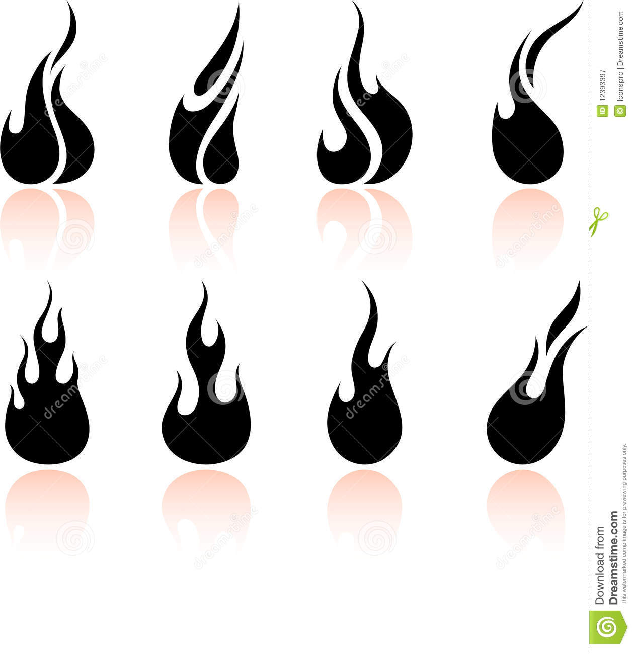 Fire Flames Clipart Black And White.