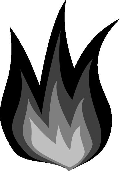 Grayscale Flames Clip Art at Clker.com.
