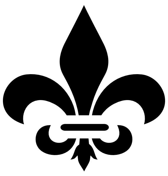 Black Fleur De Lis Clip Art at Clker.com.