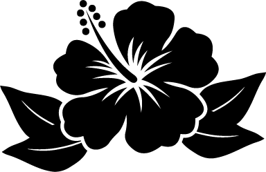 Hawaiian Flower Black Flower Logo.