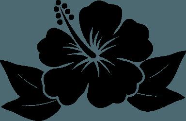 Hawaiian Flower Black Flower Logo.