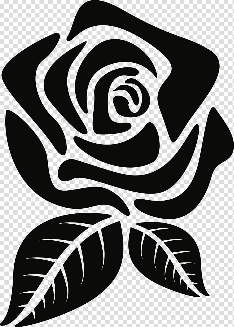 Flower Silhouette Rose , flower transparent background PNG.