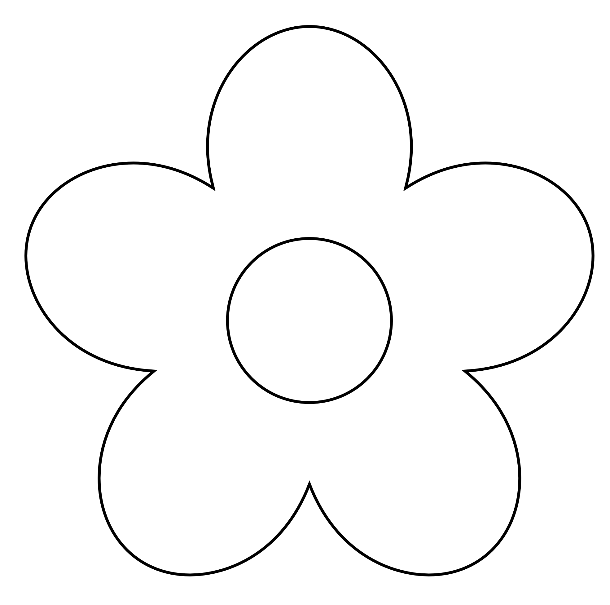 Black And White Flowers Spring Clipart.