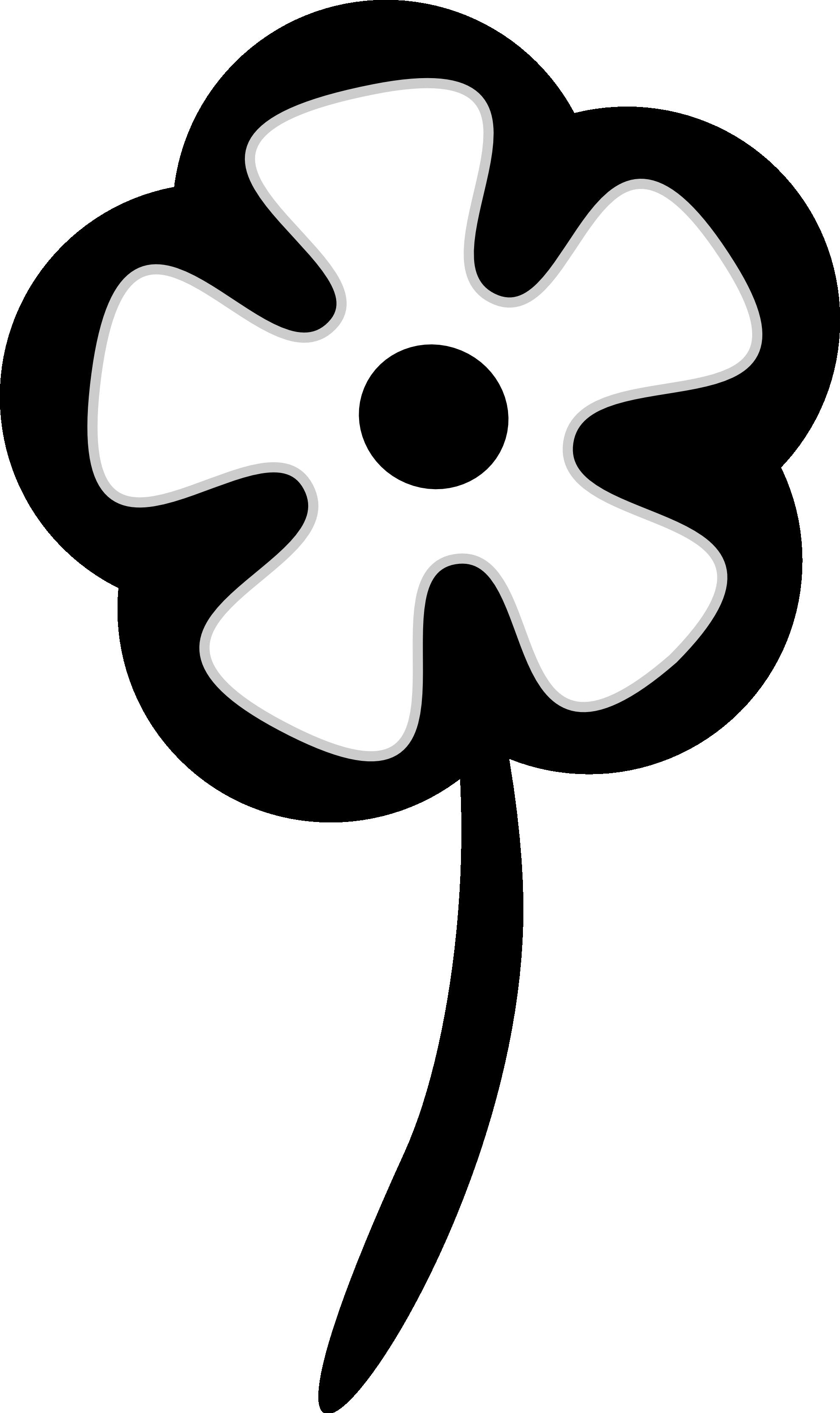 Black Flower Clipart.