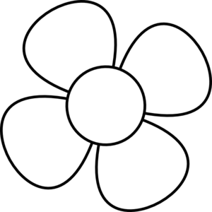 White flower clipart #16