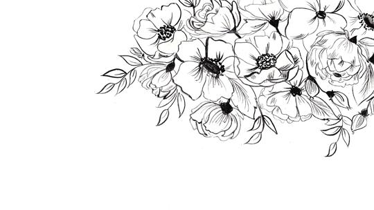 Flower Png Tumblr Black Vector, Clipart, PSD.