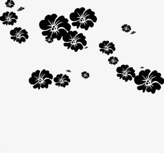 Black Flower Silhouett #373273.