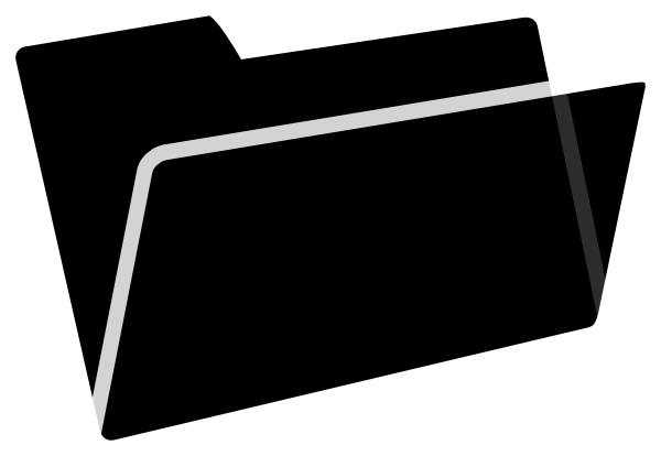 Black Folder Clipart.
