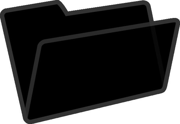 Black Folder Clip Art at Clker.com.