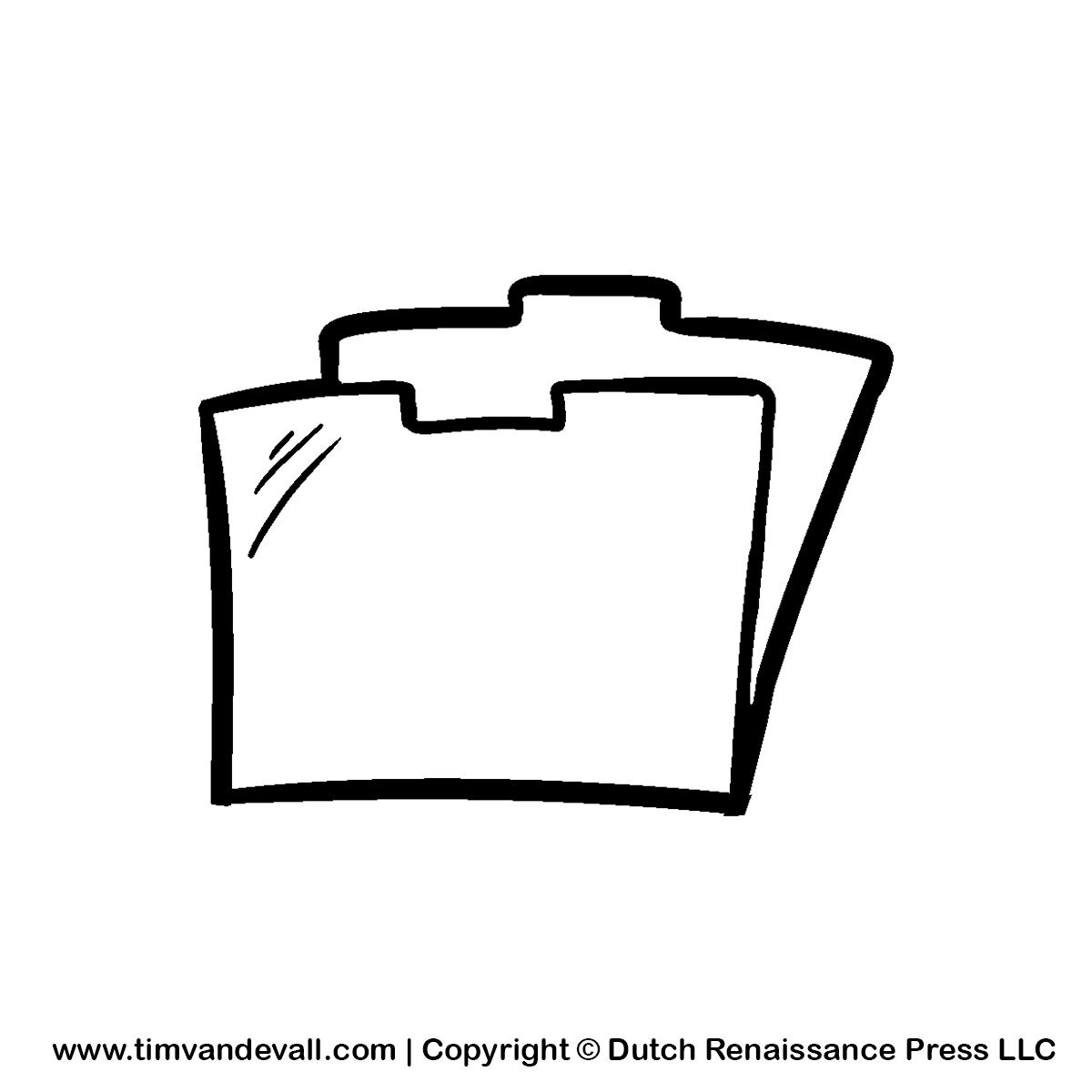 Folder Clip Art Black And White.
