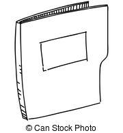 Pocket Folder Clipart Black And White.