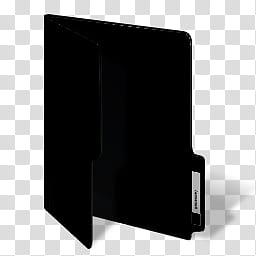 Color Folder Icons And MS, Black, black folder illustration.