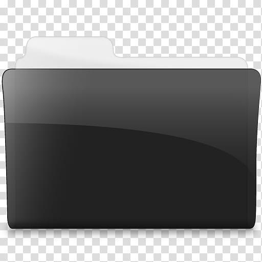 Black n White, folder icon transparent background PNG.