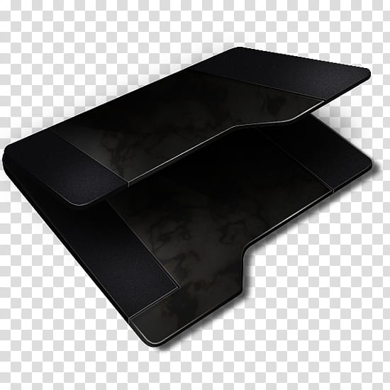 Black Empty Folder, black folder icon transparent background.