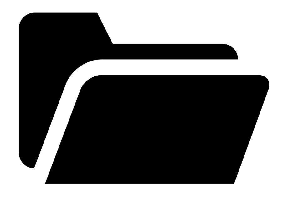 Simpleicons Interface Folder Black Open Shape.