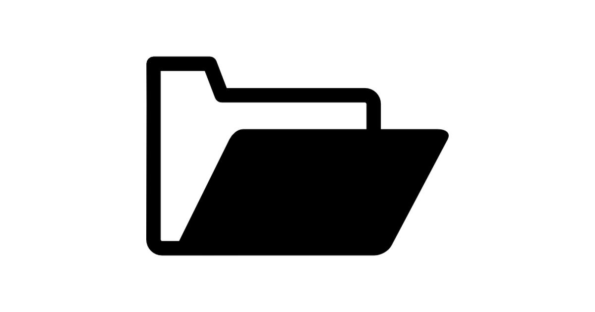 Open folder black and white variant.