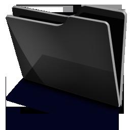 Folder Black Icon.