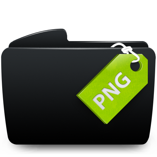 Black, Folder, Png Icon.